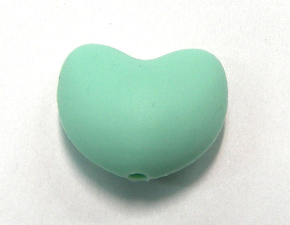 Corazon de silicona de 20x15mm Agujero: 1,7mm Mint