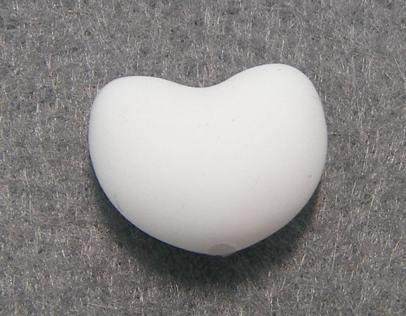Corazon de silicona de 20x15mm Agujero: 1,7mm White