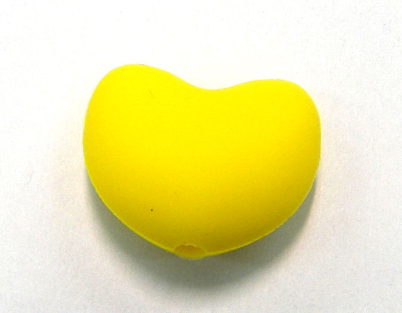 Corazon de silicona de 20x15mm Agujero: 1,7mm Yellow