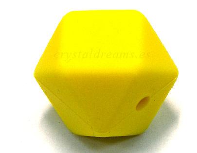 Hexágono de silicona de 16mm - Agujero: 1,7mm - Yellow