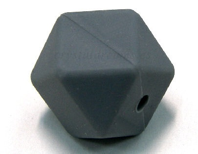 Hexágono de silicona de 13mm - Agujero: 1,7mm - Grey