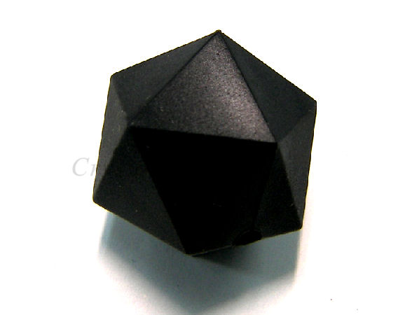 Icosaedro de silicona de 20mm - Agujero: 1,7mm - Black