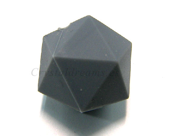 Icosaedro de silicona de 20mm - Agujero: 1,7mm - Grey