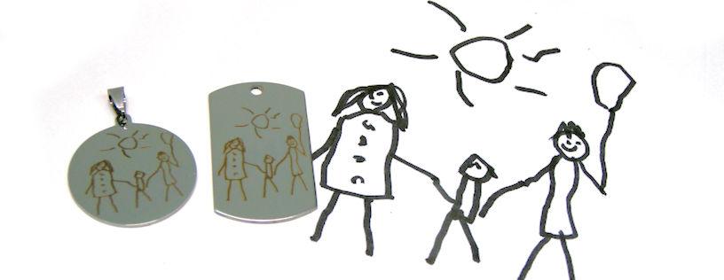 Grabado laser dibujos niños