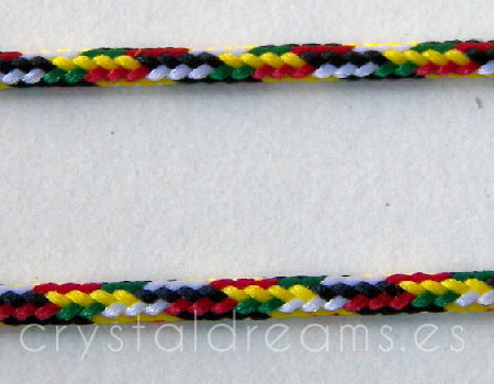 Cordon tejido de 2mm - Jamaican - x 1mt
