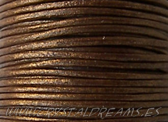 Cuero Metallic Bronce - 1mm