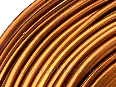 CABLE DE ALUMINIO - 1,5mm - Light Brown x 1m