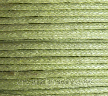 Hilo Algodon encerado 2mm x 1 metros Light Green