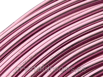 CABLE DE ALUMINIO - 1,5mm - LIGHT ROSE x 1m