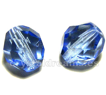 "Facetadas 6mm ""Light Sapphire"""