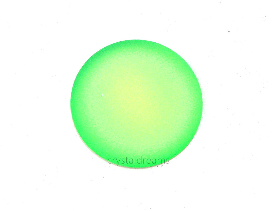 Cabuchon Luna Soft 24mm - Green Fluo