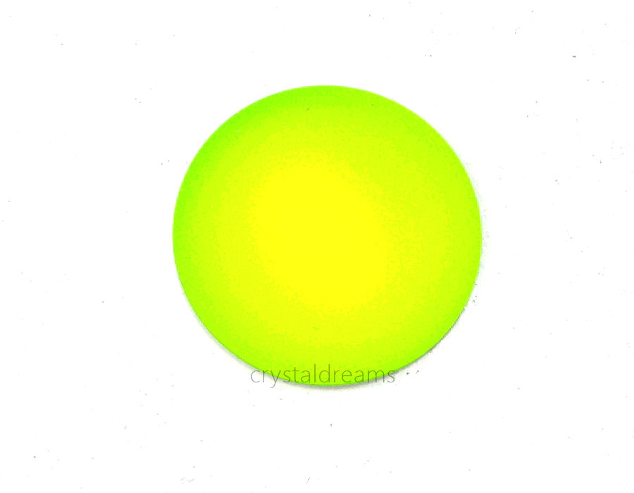 Cabuchon Luna Soft 24mm - Yellow Neon