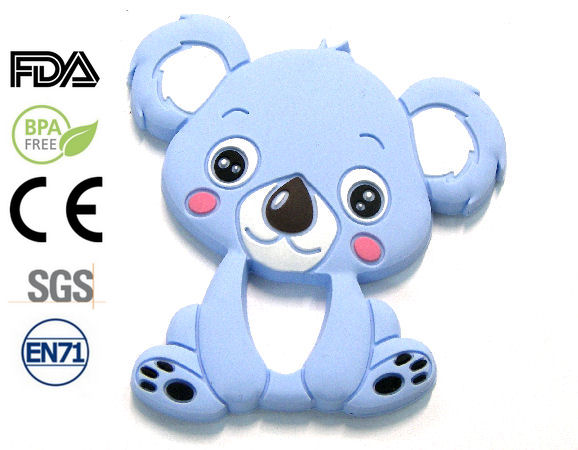 Silicone antibacterial Teether 90mm Koala BLUE