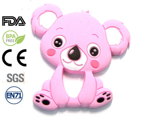 Silicone antibacterial Teether 90mm Koala ROSE