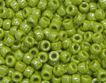 8/0 Matubo Beads - Opaque Olive Luster - 5 gr.