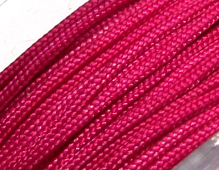 Hilo Nylon Trenzado europeo Griffin -1mm- Dk. Red (Fuchsia) x 1m