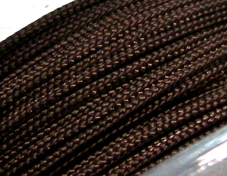 Hilo Nylon Trenzado europeo Griffin -1mm- Dark Brown x 1m.
