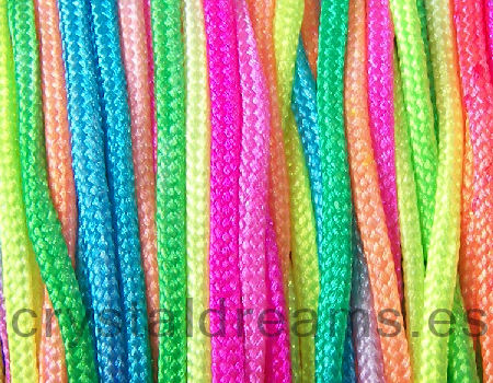 Hiilo nylon trenzado NEON 1,5mm x 1m Multicolor