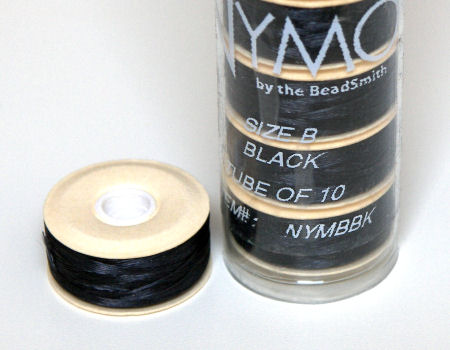 Nymo D thread - 58 meters - Black