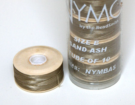 Nymo D thread - 58 meters - Sand Ash