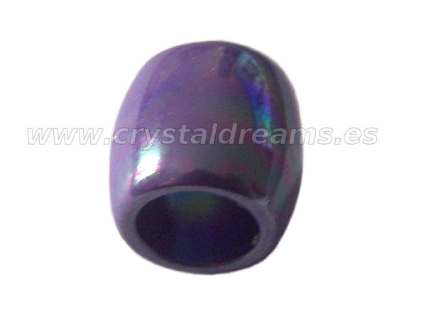 Barrilete 10x10mm Violet AB - Agujero: 6,5mm