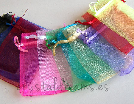 10 x Bolsas de Organza 70x90mm Colores mixtos