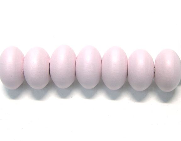 Disco de madera 12x7mm - Agujero: 3mm Pastel PINK
