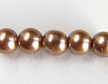 Perle di vetro - 8mm - Buco: 1mm - Dark Gold