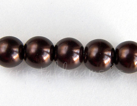 Perles de verre - 8mm - Trou: 1mm - Ground