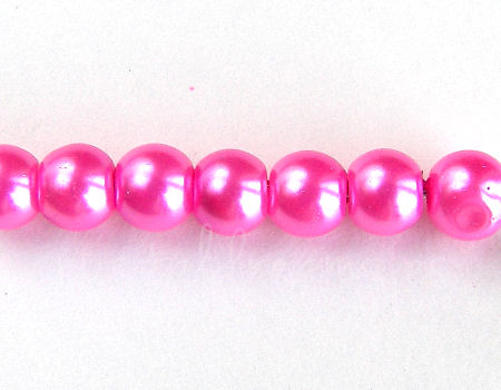 Perlas de Vidrio 6mm - Agujero: 0,5mm - Dark Rose