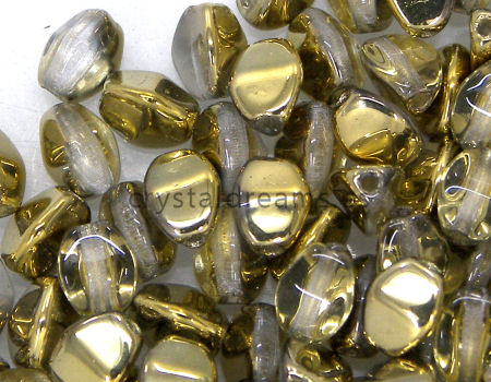 Pinch Beads 5mm - 25 Piezas - Color: Crystal Amber