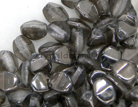 Pinch Beads 5mm - 25 Piezas - Color: Crystal Chrom