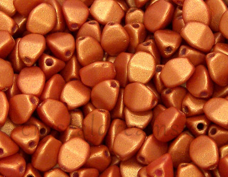 Pinch Beads 5mm - 25 Piezas - Color: Gold Shine Orange