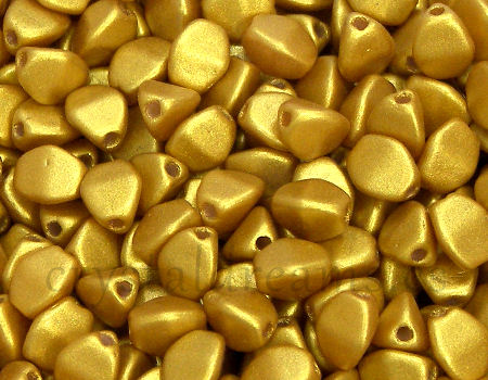 Pinch Beads 5mm - 25 Piezas - Color: Gold Shine Yellow