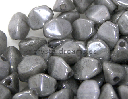 Pinch Beads 5mm - 25 Piezas - Color: Grey Luster