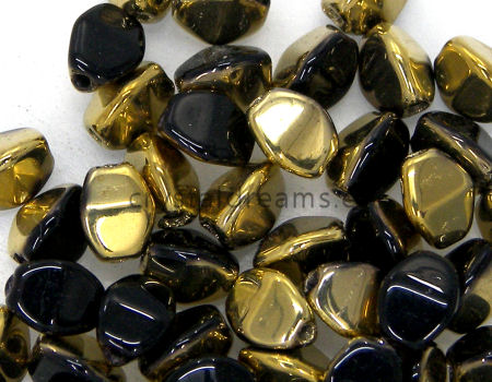 Pinch Beads 5mm - 25 Piezas - Color: Jet Amber