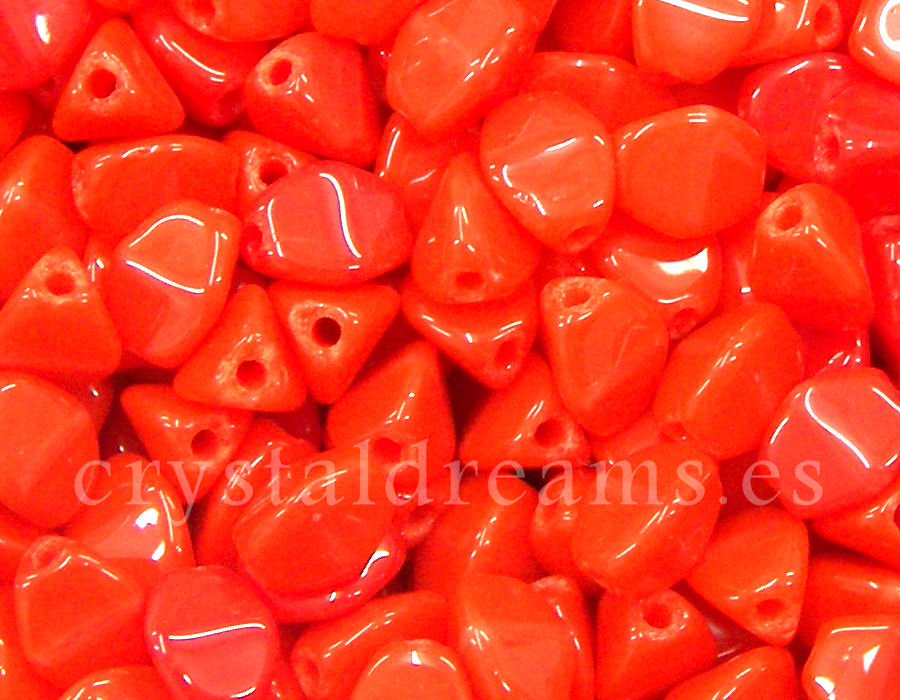 Pinch Beads 5mm - 25 Piezas - Color: Opaque Light Coral Red