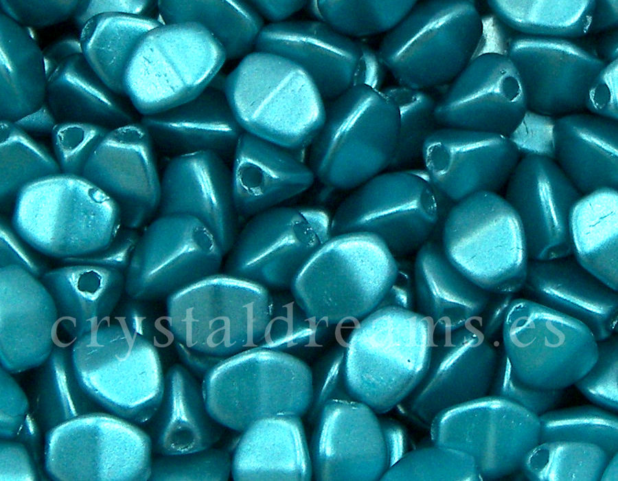 Pinch Beads 5mm - 25 Piezas - Color: Pastel Emerald