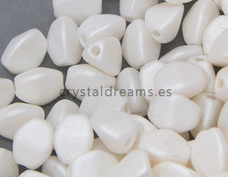 Pinch Beads 5mm - 25 Piezas - Color: Pastel White Mate