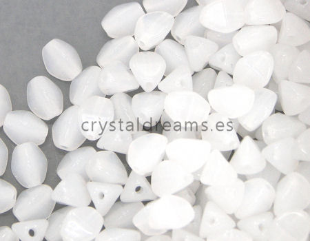 Pinch Beads 5mm - 25 Piezas - Color: White