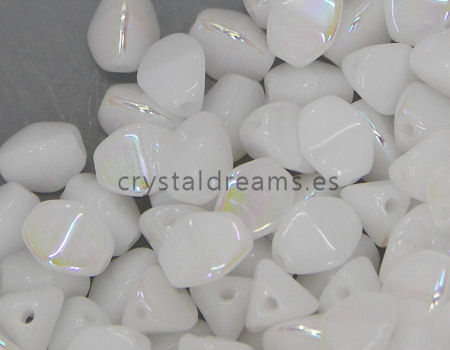 Pinch Beads 5mm - 25 Piezas - Color: White AB
