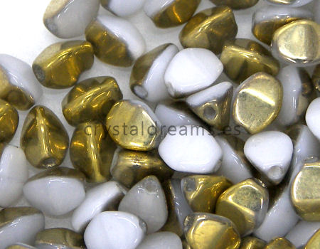 Pinch Beads 5mm - 25 Piezas - Color: White Amber
