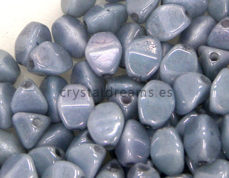 Pinch Beads 5mm - 25 Piezas - Color: White Blue Lustre