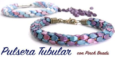 Tutorial Pulsera Tubular con Pinch Beads