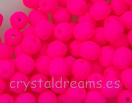 Facetadas 6mm PINK NEON MATE