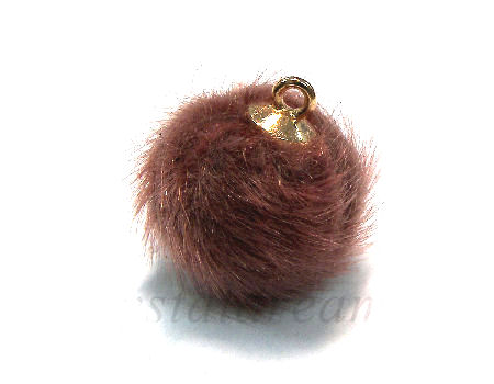 Pom Pom de 15mm - Agujero 1,5mm - Golden/Brown