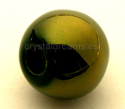 Perles Porcelaine - Green Bronce -12x10mm Trou:3mm