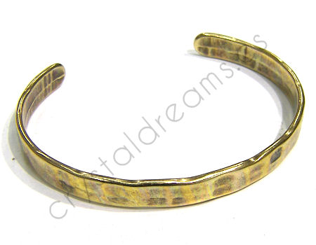 Pulsera Zamak regulable 55-65mm - Bronze 6,5cms. de ancho