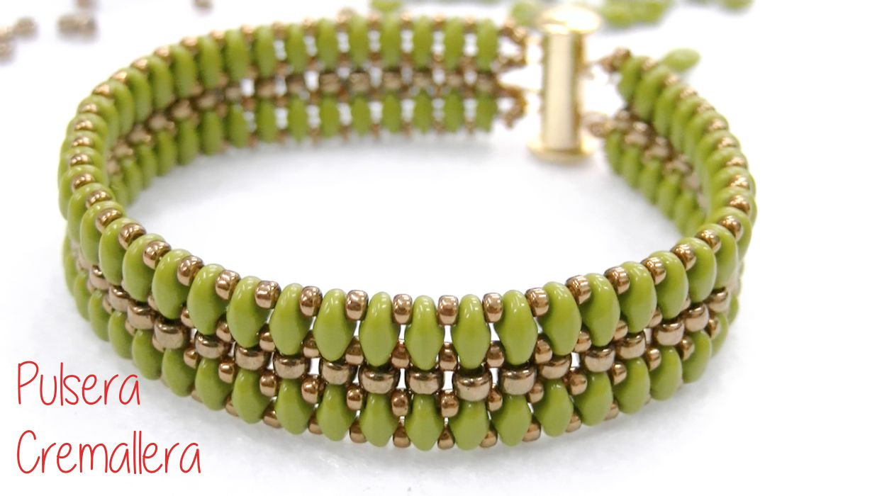 Pulsera Cremallera con Superduo Hecha a mano - 100%Made in Spain