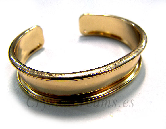 Pulsera Metal regulable 55-65mm - 15mm - Dorado
